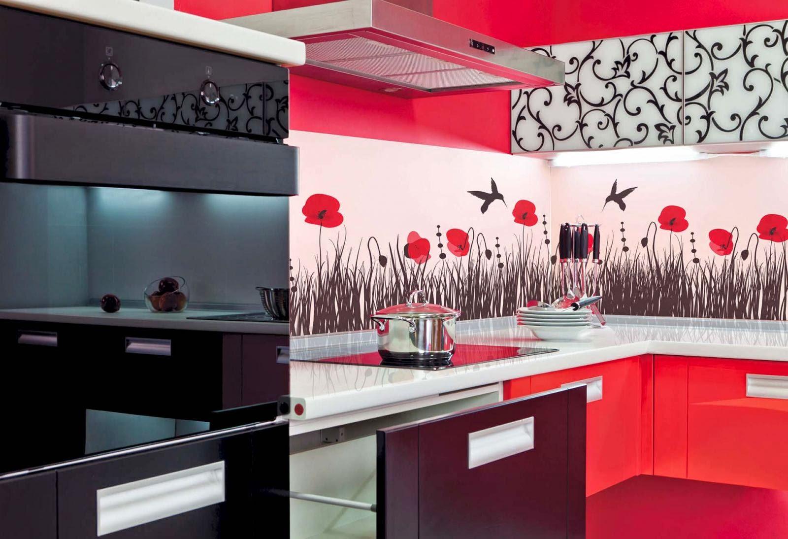 вернулся кухонные обои с красным рисунком фото каталоги элемент выполнен виде