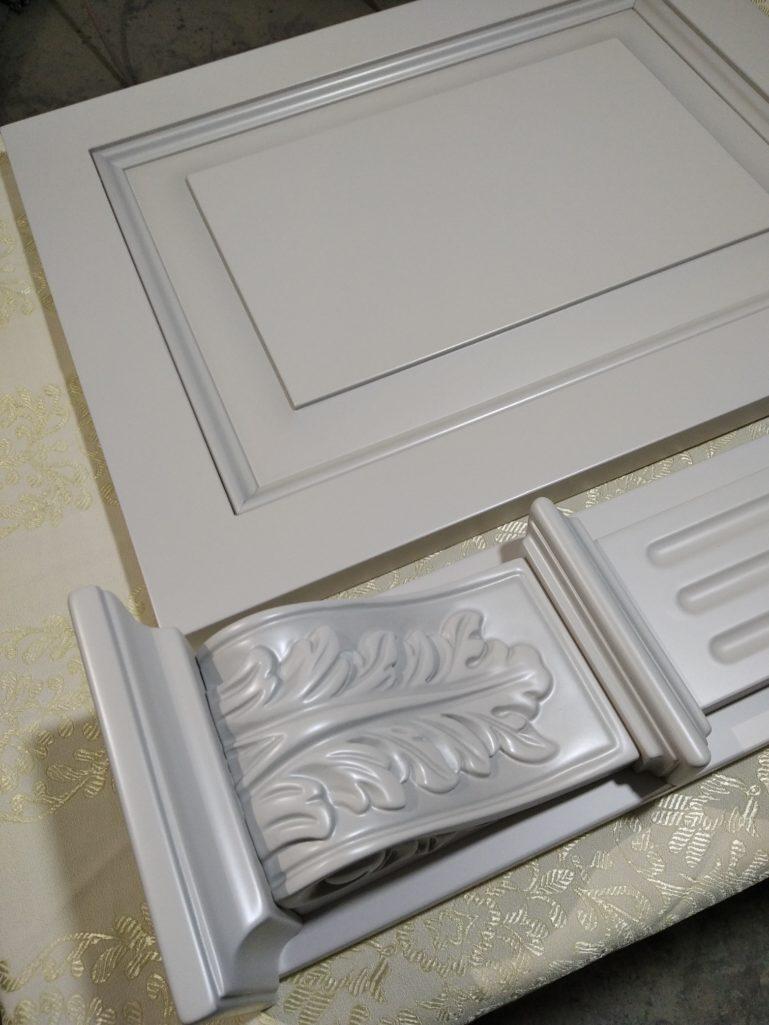 Покраска кухонного гарнитура с патинированием